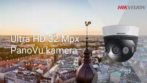 Hikvision piedāvā jaunu ultra HD 32 Mpx PanoVu panorāmskata kameru