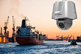 Hikvision anti-korozijas kamera, osta, jūra, kuģis, kravas kuģis