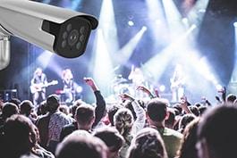 DeepInView kamera, koncerts, klubs