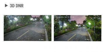 Divi attēli ar ceļu naktī , bet dažādā kvalitātē.