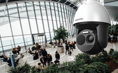 Hikvision IP kamera, videonovērošanas kamera, lidosta, uzgaidāmās telpas